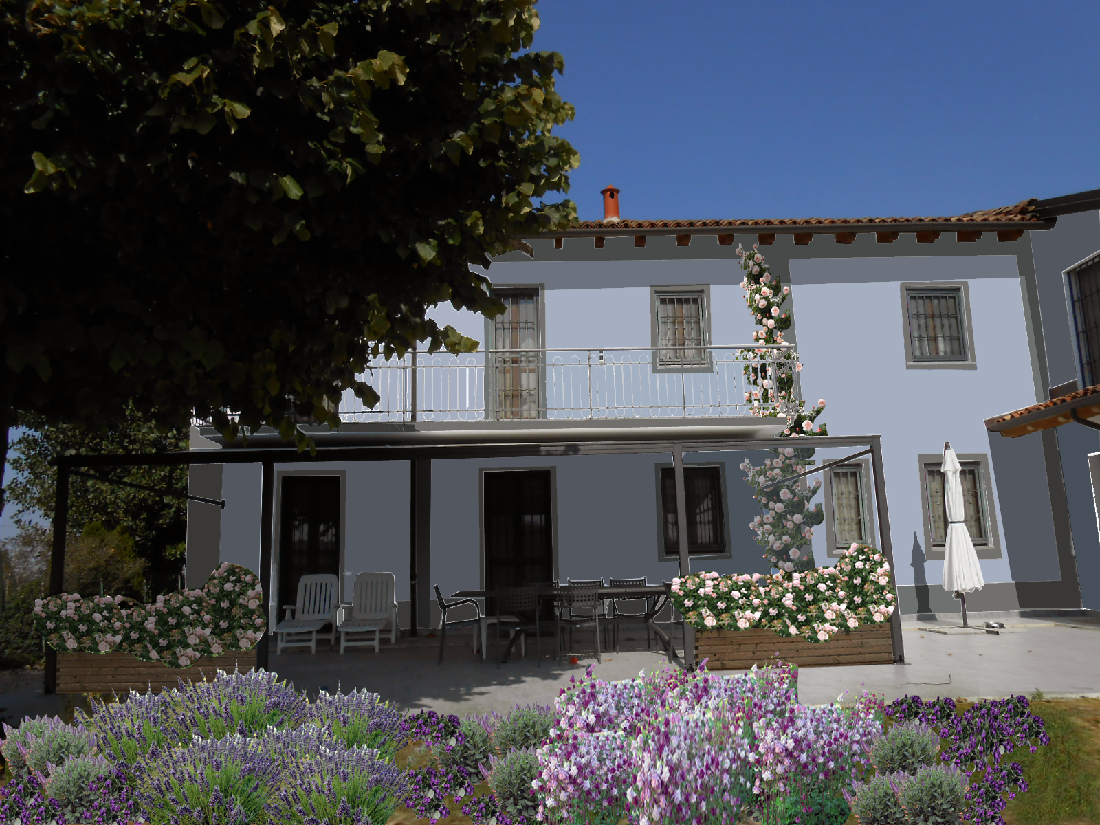 Casa moderna roma italy progettazione spazi verdi - Progettazione esterni casa ...