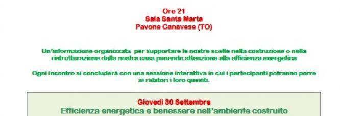 Gli incontri della eco-sostenibilità e della buona abitazione, Pavone Canavese 2010